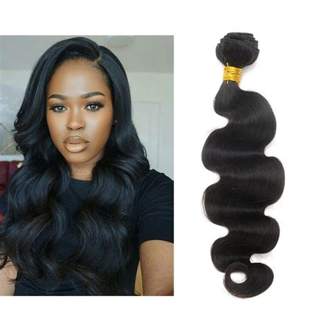 show pic of body wave wwave hair style natural color brazilian virgin human hair weave body wave