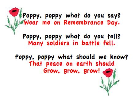 poppy pappy day lyrics poppy booklets for first graders to practice their