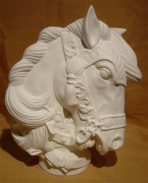 carousel ceramic paint large carousel bust ceramic bisque ready to paint