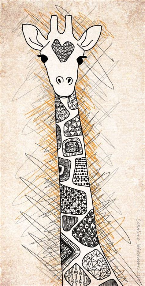 Pattern Giraffe Drawing | zentangle giraffe google search doodles pinterest