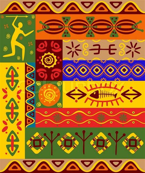 african pattern vector free abstract ethnic patterns and ornaments for design stock