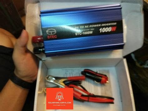harga power inverter stec stc dc ke ac 500w solar panel