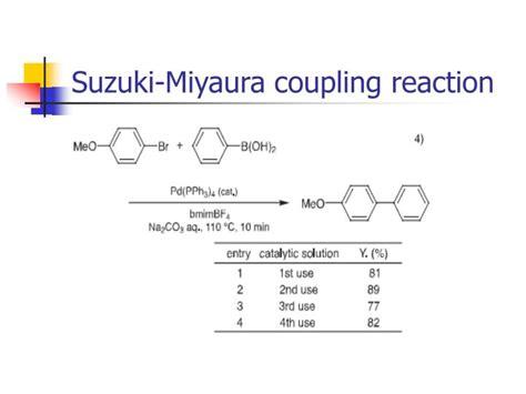 Suzuki Miyaura Coupling Reaction Ppt Ionic Liquid Powerpoint Presentation Id 6795384