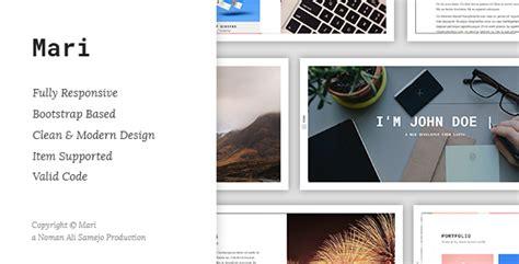 mycard responsive vcard resume html template mari responsive resume cv vcard template by nomansamejo themeforest
