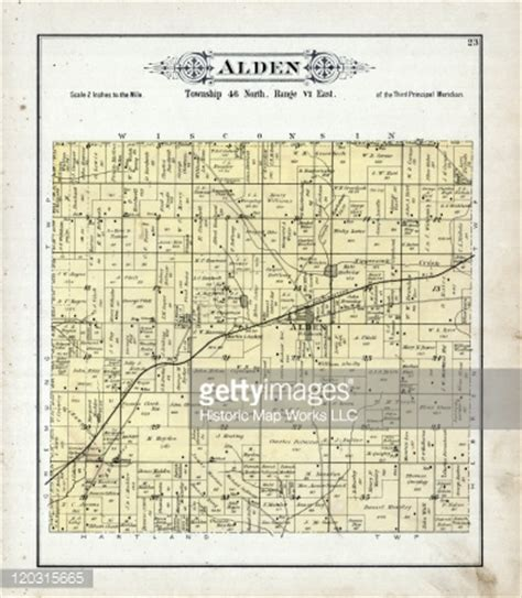 Mchenry County Il Records Illinois 1892 Alden Township Alden Mchenry County Stock Illustration Getty Images