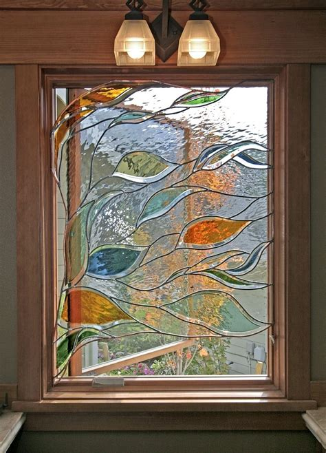 stained glass bathroom window handmade stained glass in a bathroom window by isaac d