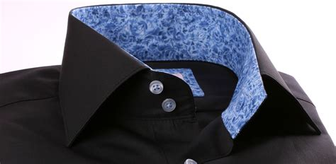 pattern for french cuff black french cuff shirt with blue pattern collar and cuffs