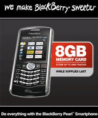 Memory Card Blackberry 8gb mobile launches blackberry pearl with 8gb memory card in canada rimarkable