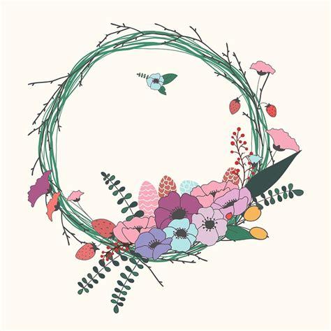 Undangan Vintage Colour free illustration flowers wreath floral decoration free image on pixabay 2389423