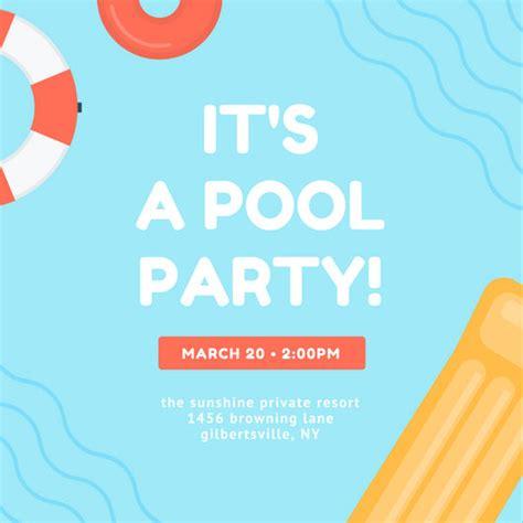 pool party invitation ideas sansalvaje com