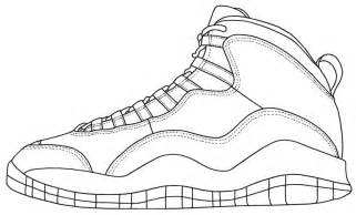 jordan shoe coloring pages coloring