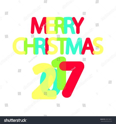 design a banner in word merry christmas 2017 word design banner stock vector