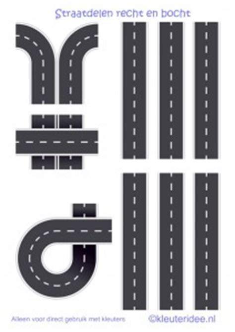 printable paper roads straaplaten voor kleuters a3 recht en bocht kleuteridee