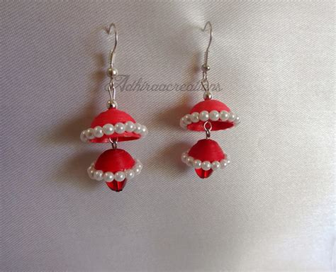 How To Make Paper Jumkas - adhiraacreations some more paper jhumkas
