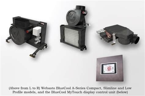 webasto thermo comfort north america inc new bluecool air handlers fit almost any boat houseboat