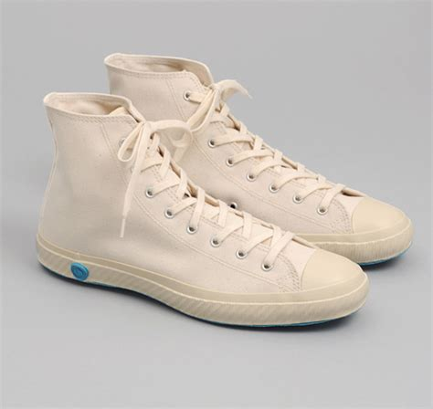 high top vulcanized sneakers white canvas hickoree s