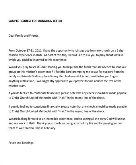 Church Donation Request Letter Exle Sle Donation Letter 10 Exles In Word Pdf