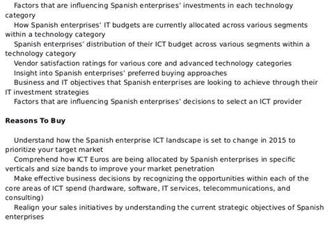spending pattern in spanish ict investment trends in spain enterprise ict spending