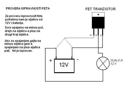transistor mosfet testear es ispravnost fet tranzistora