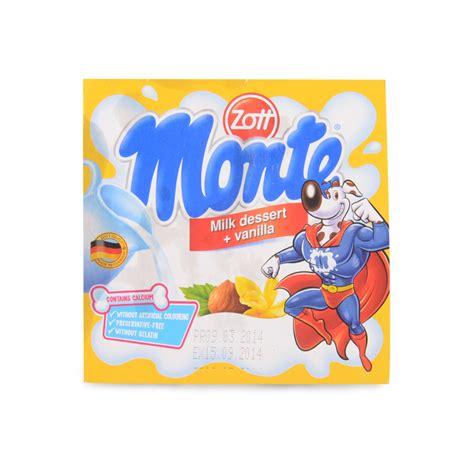 Zott Monte Dessert Coklat 55g zott monte vanilla milk dessert fields china