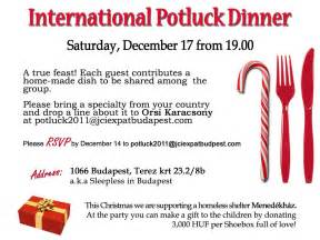 Potluck Email Invitation Template by Charity Potluck Dinner In Benefit Of Homeless