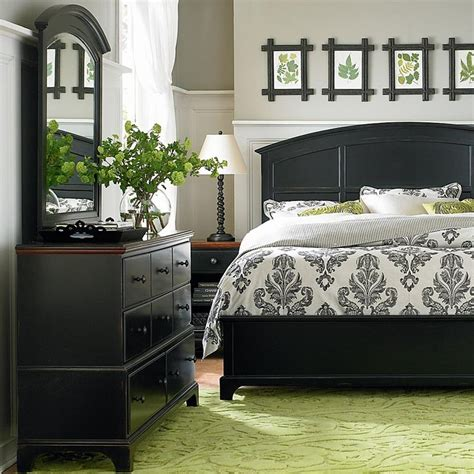 green and black bedroom aspen grove collection bassett furniture spaces