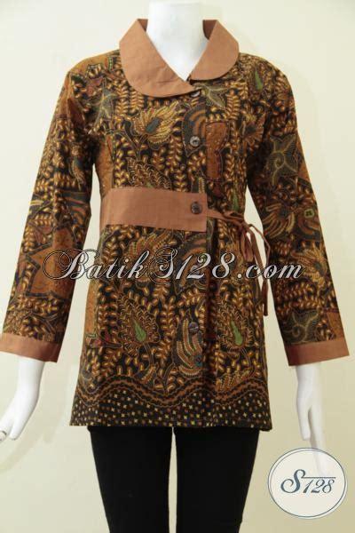 Desaign Baju Batik Formal Wanita pakaian batik klasik wanita khas indonesia blus batik formal seragam kerja cewek karir