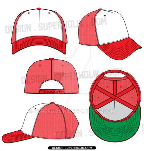 6 panel hat template trucker hat vector template by superholik on deviantart