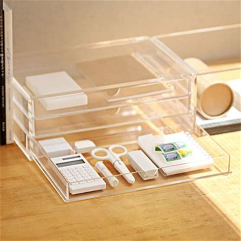 muji clear acrylic drawers acrylic case with 3 drawers http muji us