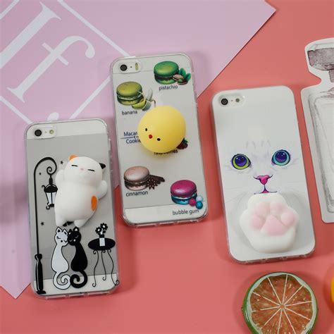 C0353 Squishy For Iphone 5 5s Se 6 6s 6 6s 7 7 squishy 3d soft silicone cat tpu mobile phone cover for iphone se 5s 5 ebay
