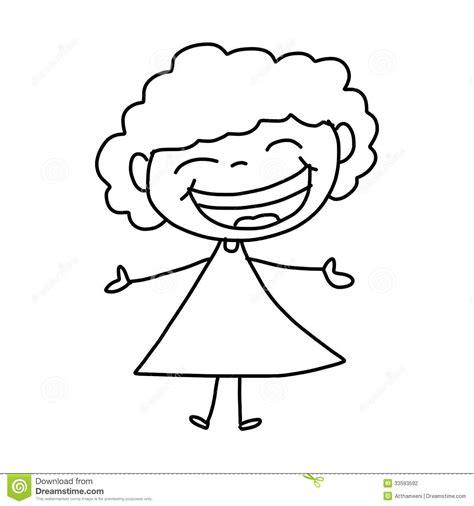 imagenes niños felices para colorear ni 241 os felices de la historieta del dibujo de la mano