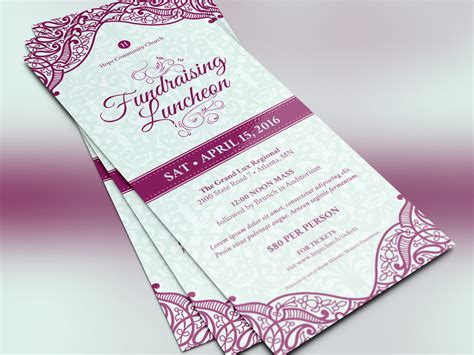 fundraising luncheon flyer template by godserv designs
