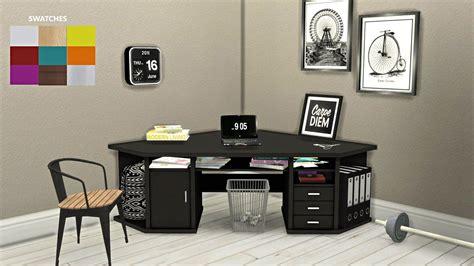 4 corner desk cc for sims 4 corner desk sims 4 sims and