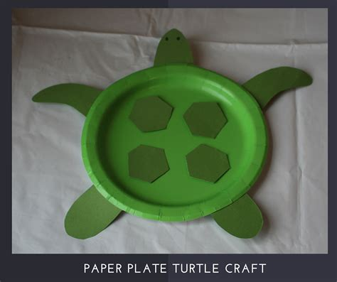 Paper Plate Turtle Craft - submerged alternative craft ideas autry creations