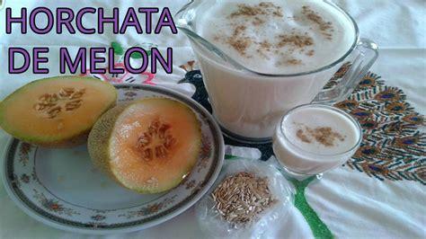 agua de semillas de melon como preparar horchata de melon agua fresca