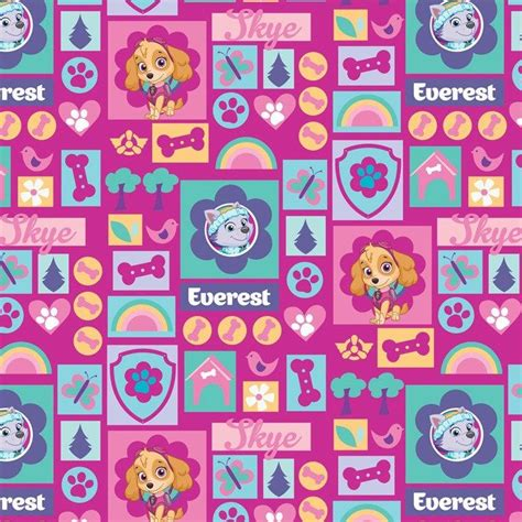 textile themes names david textiles paw patrol skye and everest textiles