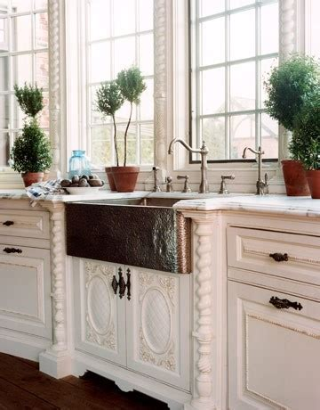 copper sink white cabinets hammered copper sink
