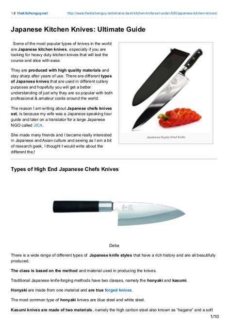 kitchen knives guide types of kitchen knives guide besto