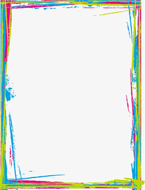 html border color colored border painted frame graffiti png image