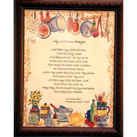 Traditional Housewarming Gifts by Kitchen Prayer Plaque