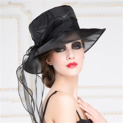 Dress With Hat Val 10 sinamay white black wedding church hat formal occasion bridal races hats for