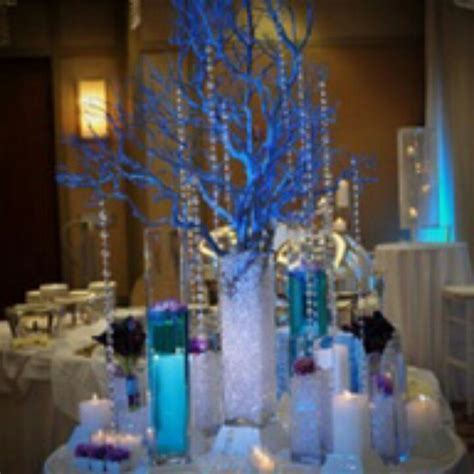 Prom table decorations   Prom ideas   Prom decor, Blue