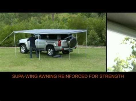 supa wing awning supa wing rv 4x4 awning full youtube