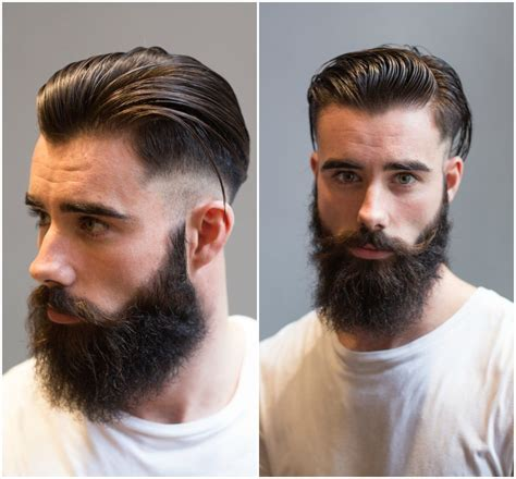 fading sideburns into beard mens hairstyles and haircuts 2013 slicked male models