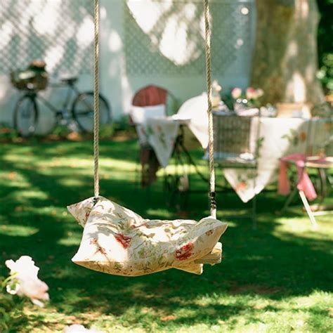 swing country country garden with wooden swing country garden design