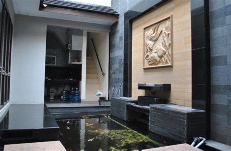 desain kolam ikan indoor rumah minimalis modern koi garden pond design pond design