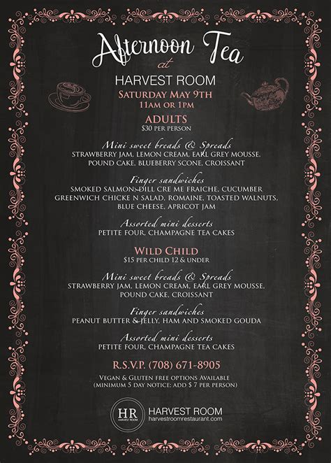 harvest room menu 09 may s afternoon tea harvest room