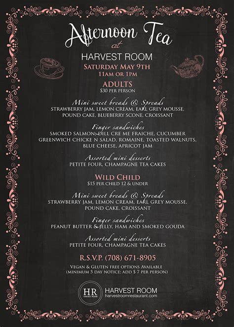 harvest room menu 09 may s afternoon tea harvest room