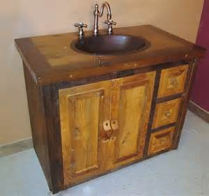 reclaimed wood bathroom vanity