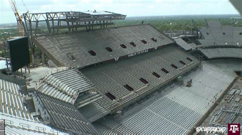 kyle field student section gif of student section renovation at kyle field november